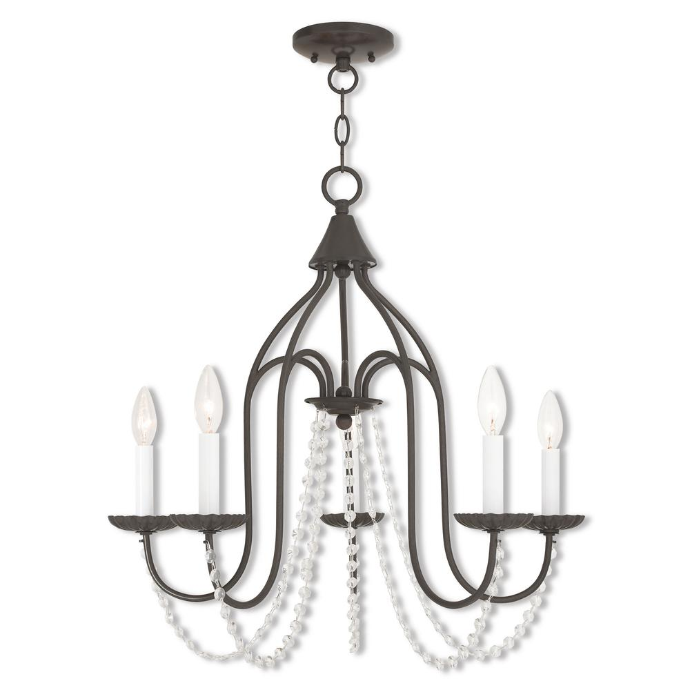 Livex Lighting Alessia 5-Light English Bronze Chandelier