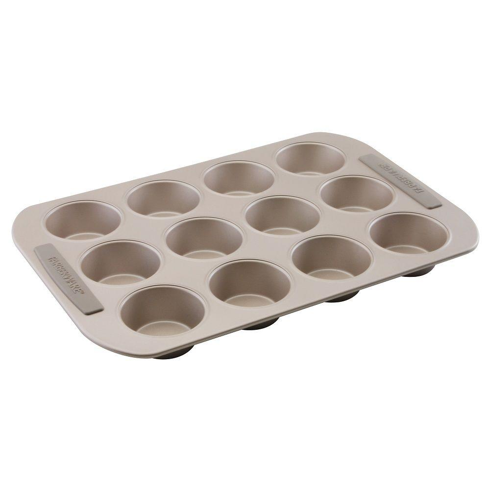 Farberware 12-Cup Muffin Pan in Light Brown