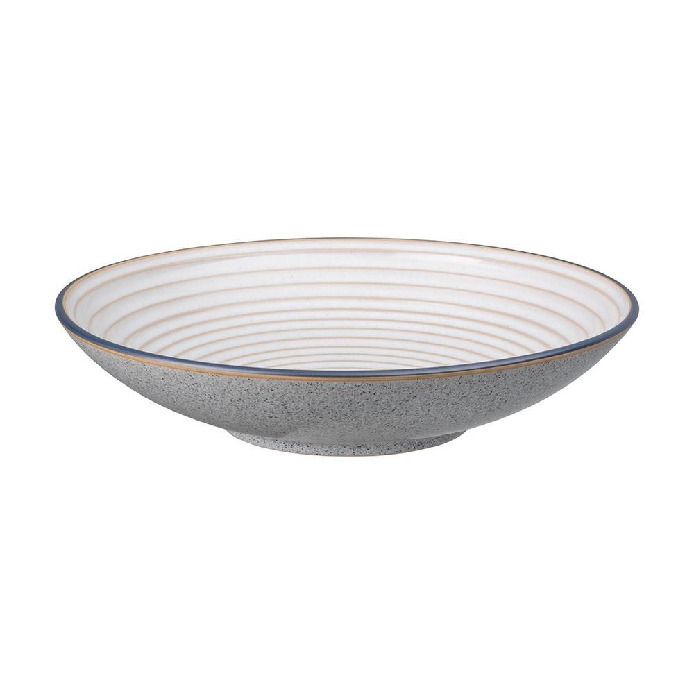 Studio Grey White Stoneware 84.53 fl. oz. Large Ridged Bowl
