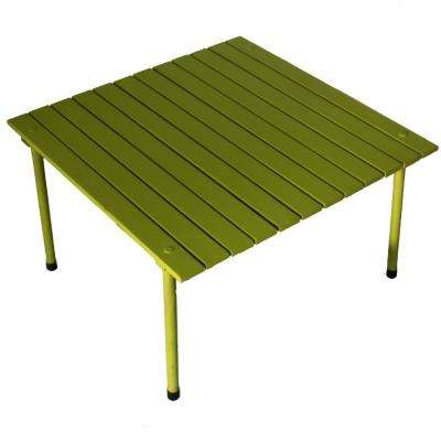 Green Wood Square Outdoor Picnic Table with Bag