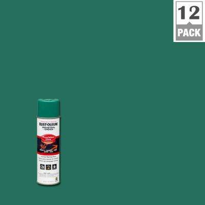 17 oz. M1600 System Precision Line Solvent-Based Safety Green Inverted Marking Spray Paint (12-Pack)
