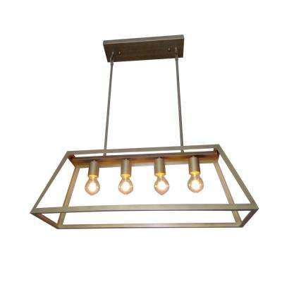 4-Light Antique Bronze Pendant