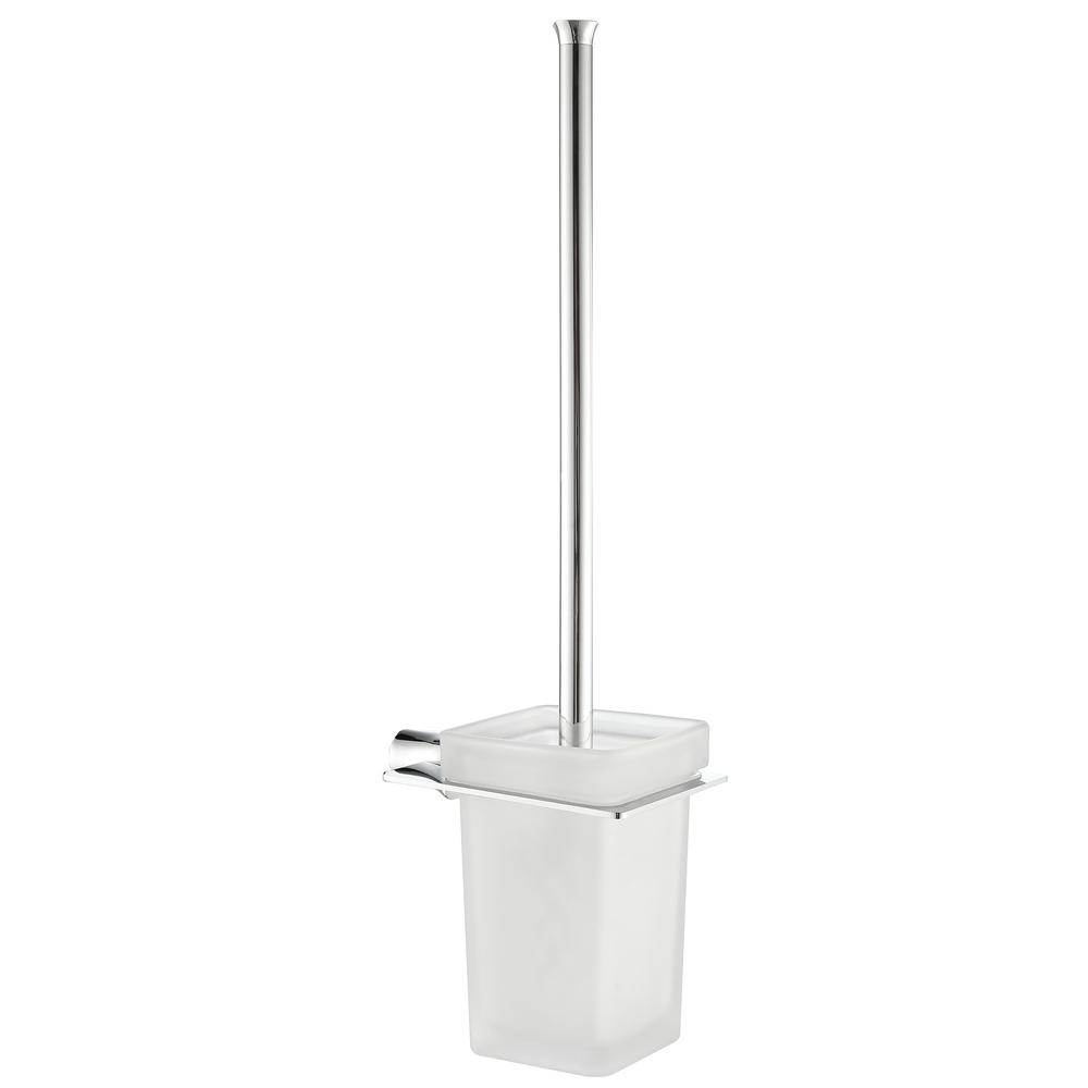 Essence Series Stainless Steel Toilet Brush Holder in Brushed Nickel