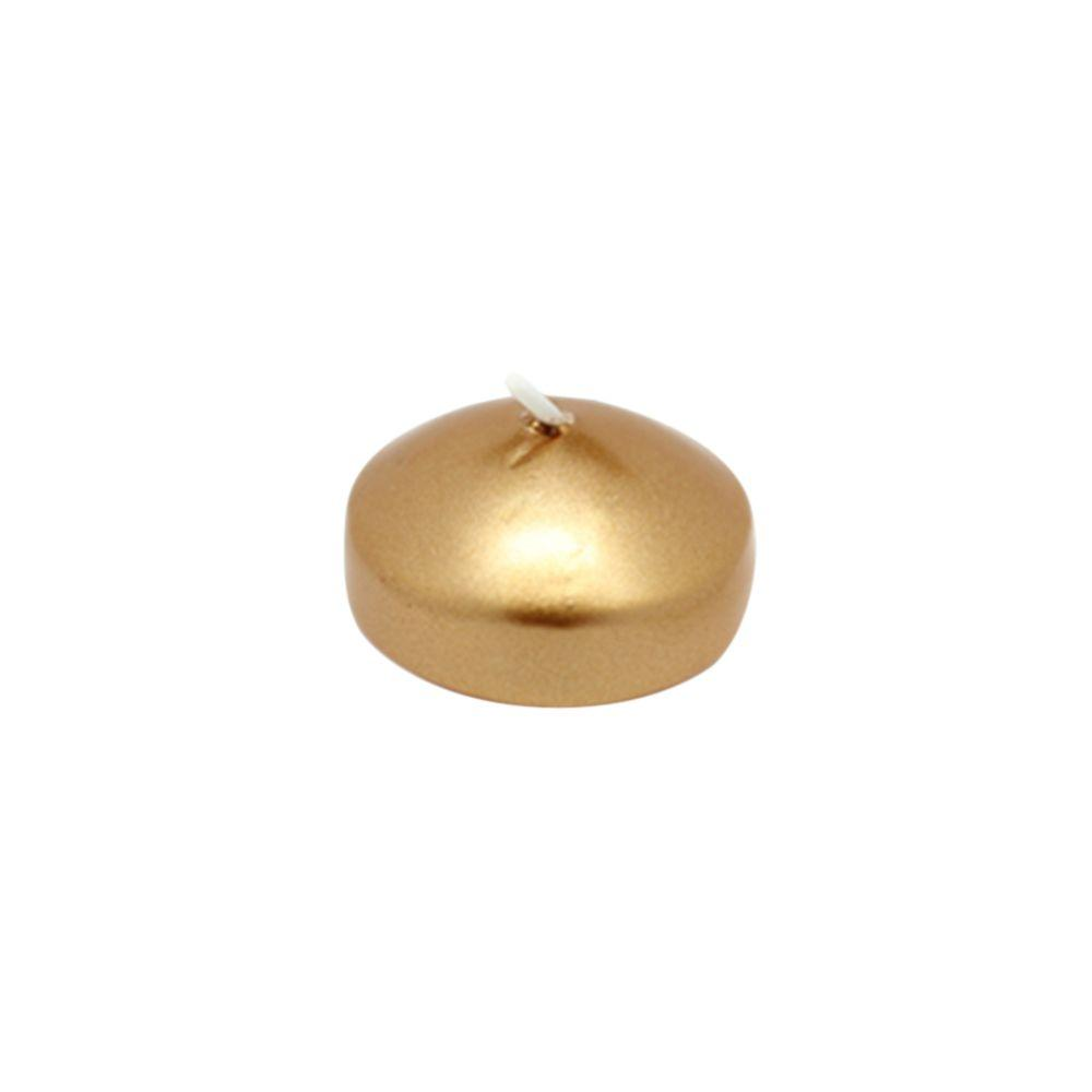 1.75 in. Metallic Bronze Gold Floating Candles (24-Box)