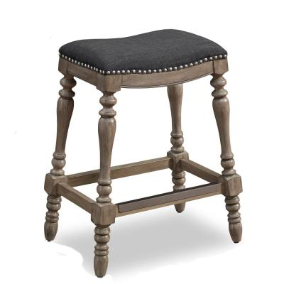 Collins 25 in. Sand Saddle Seat Counter Stool