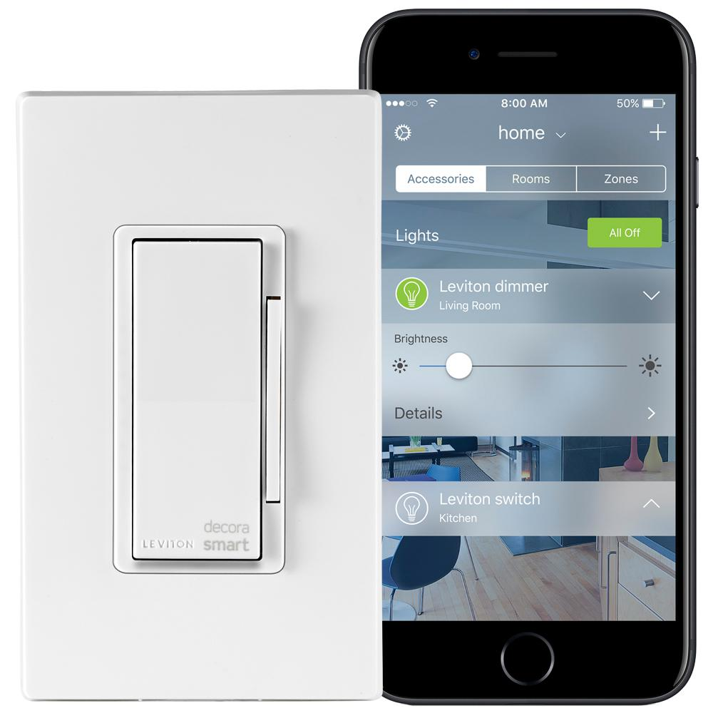 Decora Smart 1000-Watt with HomeKit Technology Dimmer, Works with Siri