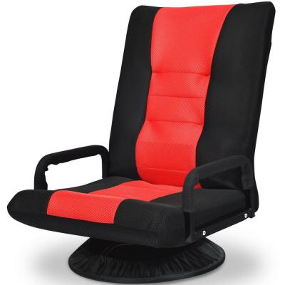 Red & Black 360° Swivel Folding Gaming Floor Chair Foldable Adjustable Backrest with 6-Position