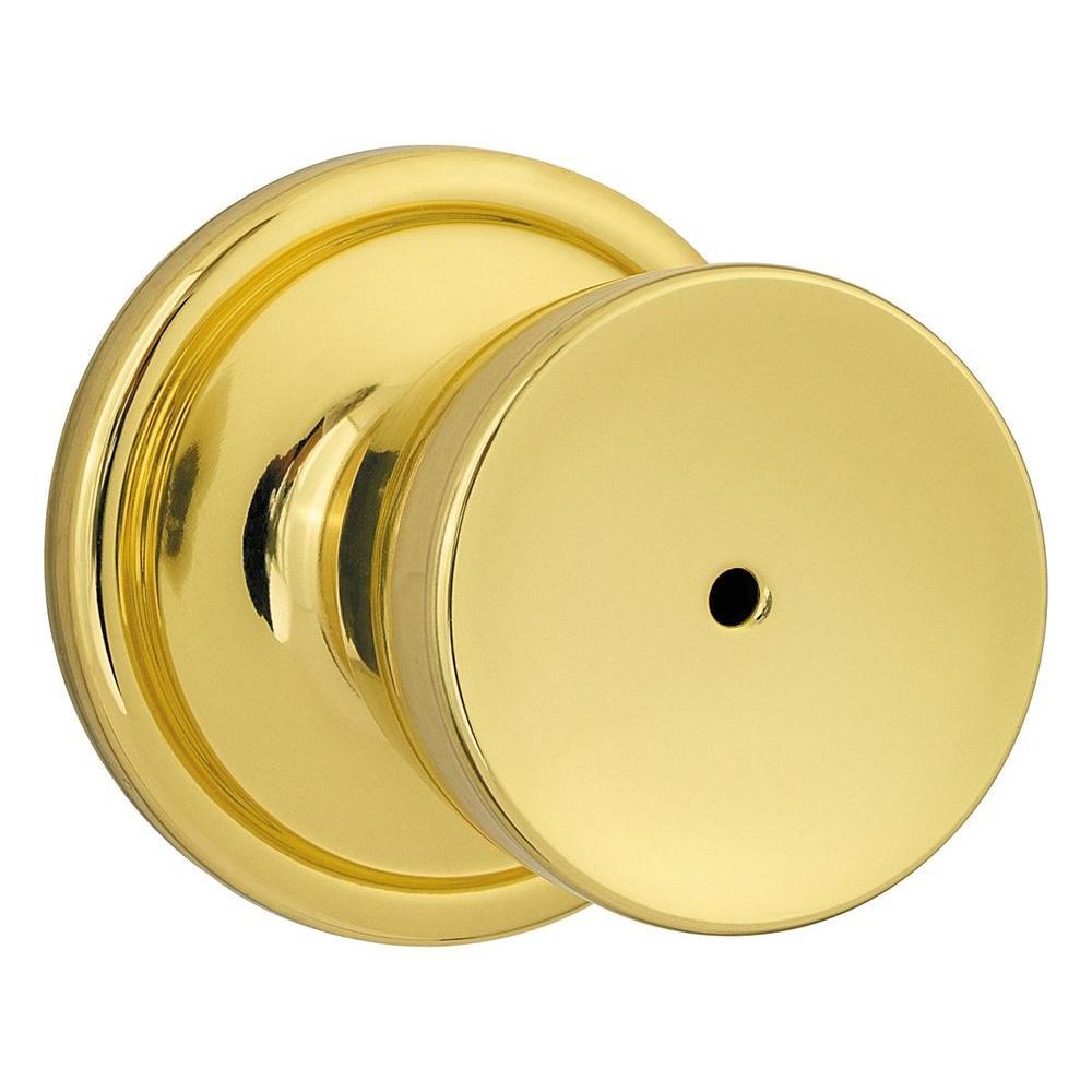 Kwikset Abbey Polished Brass Privacy Knob