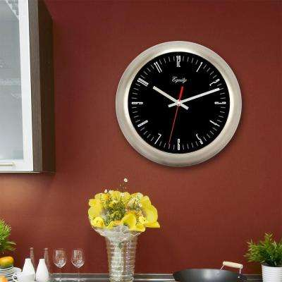 11 in. H Round Metal Wall Clock