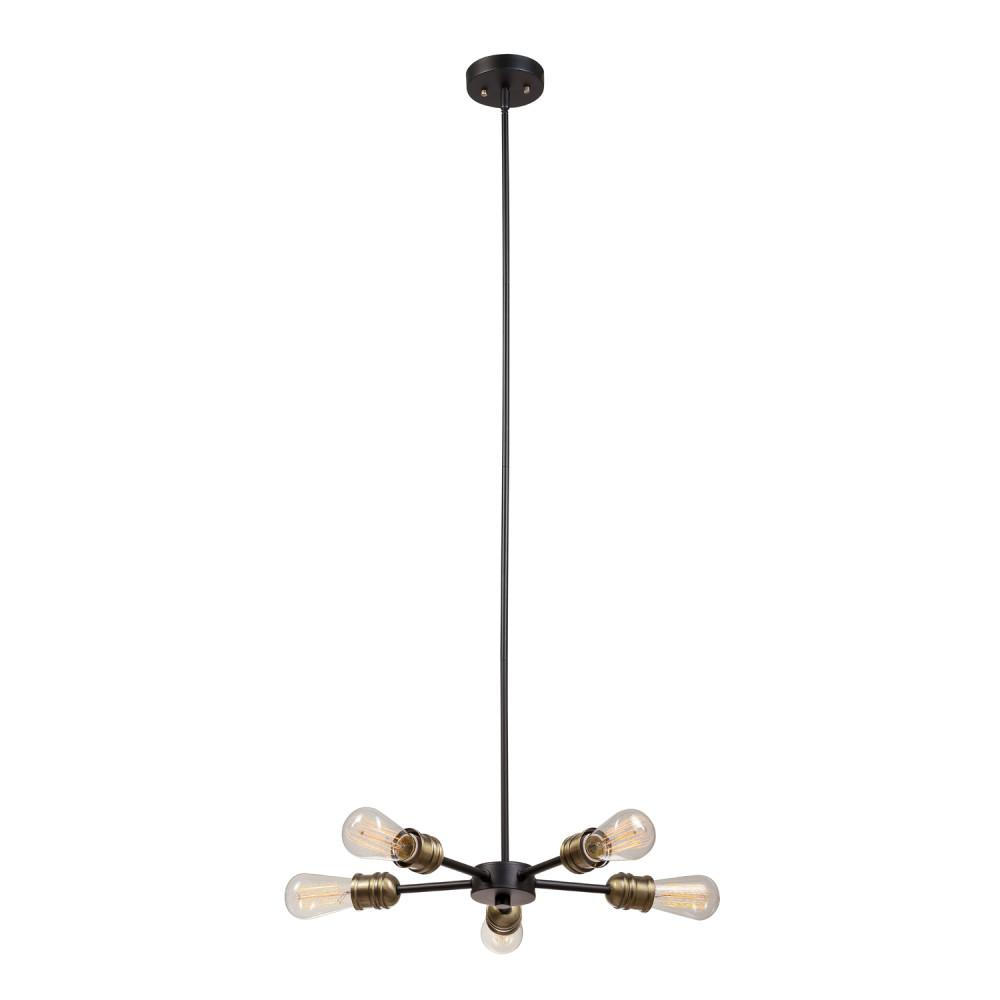 Beaugard 5-Light Matte Black Chandelier