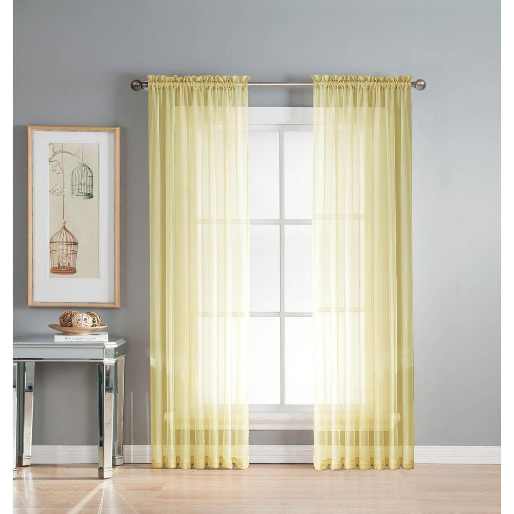 window elements sheer diamond sheer yellow rod pocket extra wide rh homedepot com sheer curtains with designs sheer curtains with pattern