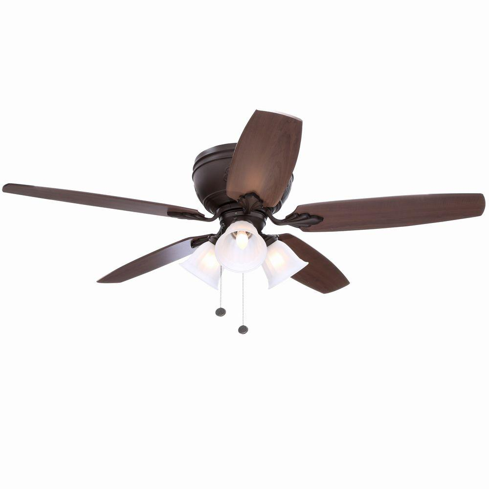 Hampton Bay Chastain II 52 in. Indoor Oil-Rubbed Bronze Ceiling Fan with Light Kit