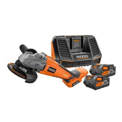 18-Volt Cordless Lithium-Ion Brushless Grinder Kit with (2) 4.0Ah Batteries and Charger