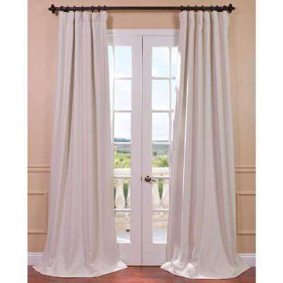 Semi-Opaque Cottage White Bellino Blackout Curtain - 50 in. W x 96 in. L (Panel)