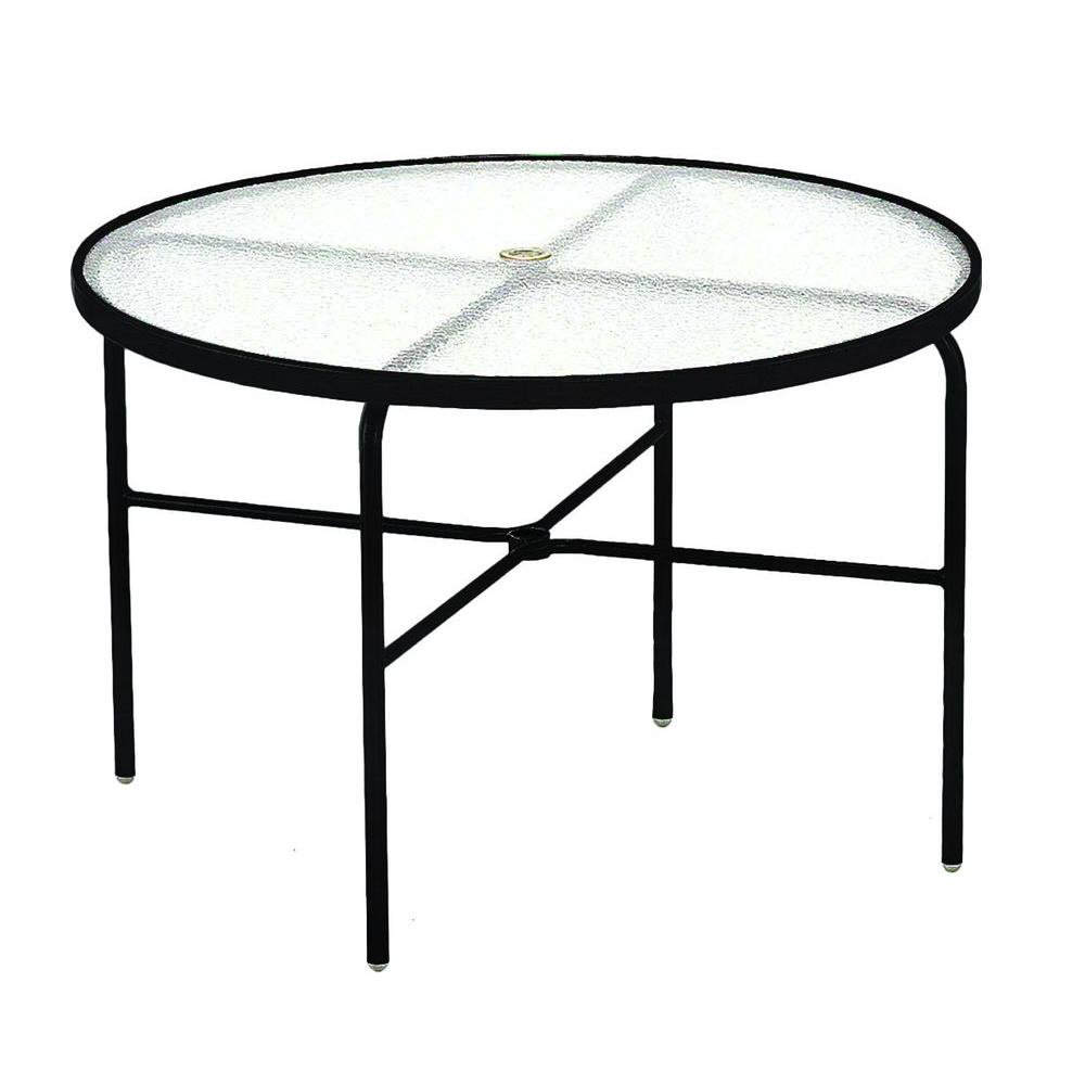 Black Acrylic Top Commercial Patio Dining Table