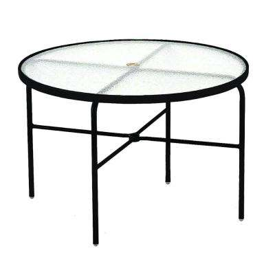 42 in. Black Acrylic Top Commercial Patio Dining Table