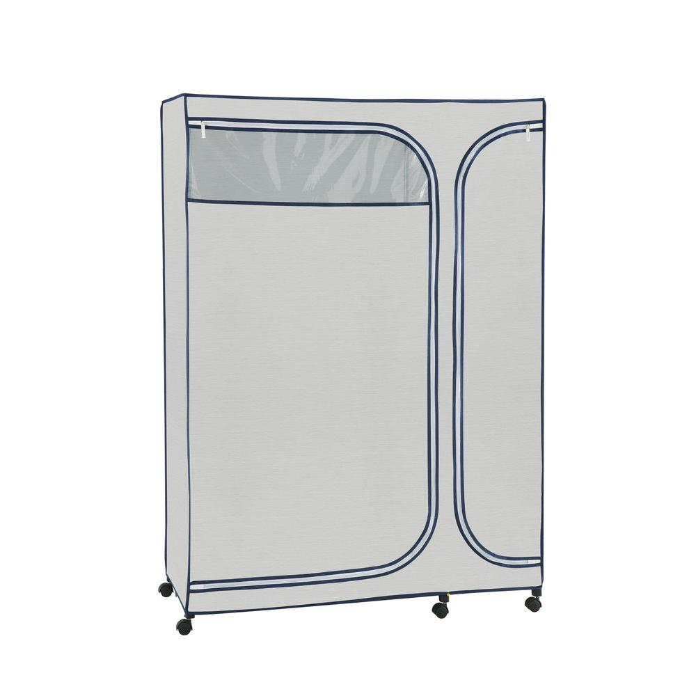 45.5 in. x 64 in. Portable Wardrobe Storage Organizer in Light
