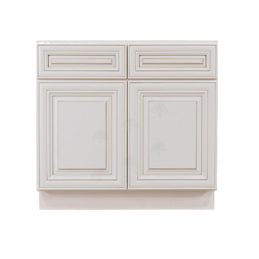 LIFEART CABINETRY Princeton Assembled 42 in. x 34.5 in. x ...