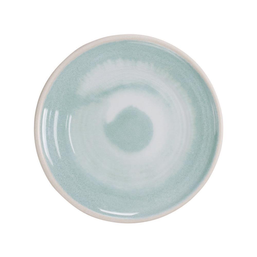 Raku Aqua Salad Plate