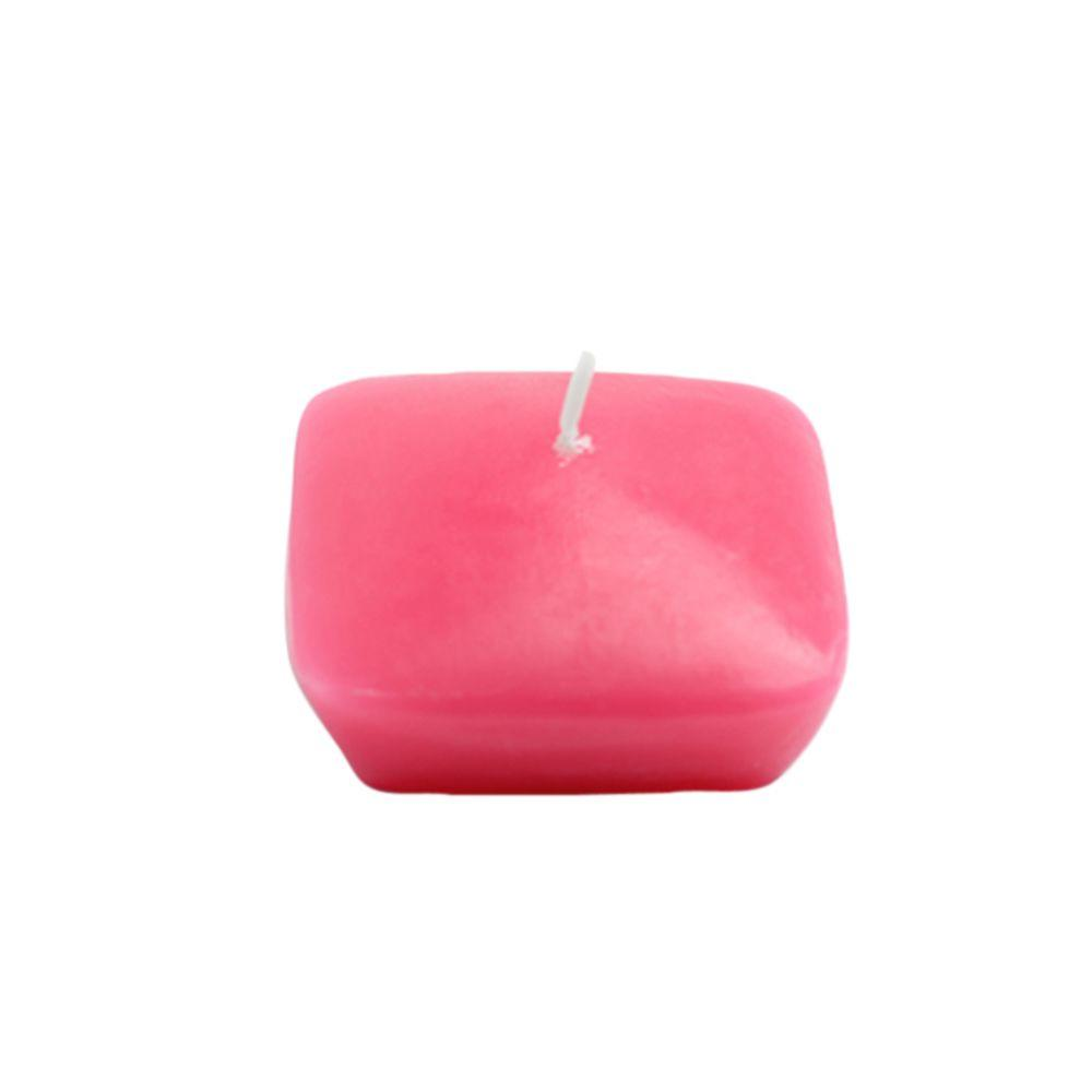 2.25 in. Hot Pink Square Floating Candles (12-Box)
