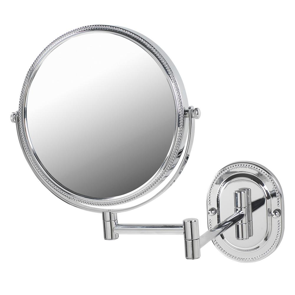 Jerdon 11 in. x 13 in. Wall Makeup Mirror in Chrome