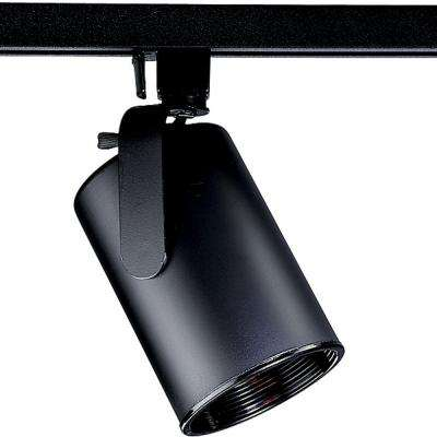 Alpha Trak Collection 1-Light Black Track Lighting Head