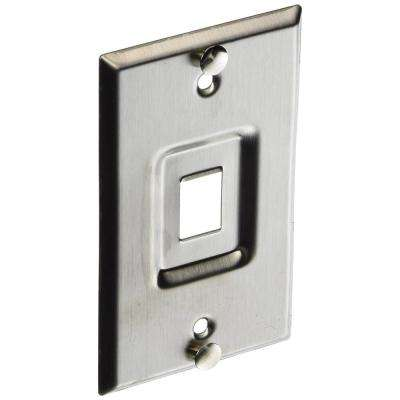 QuickPort Standard Size Telephone Wallplate, Stainless Steel