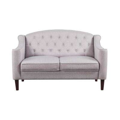Freesia Cream Fabric Loveseat