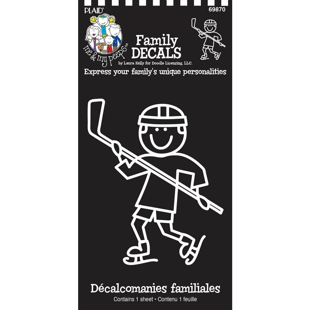 Me and My Peeps Hockey Boy Auto Decal-DISCONTINUED