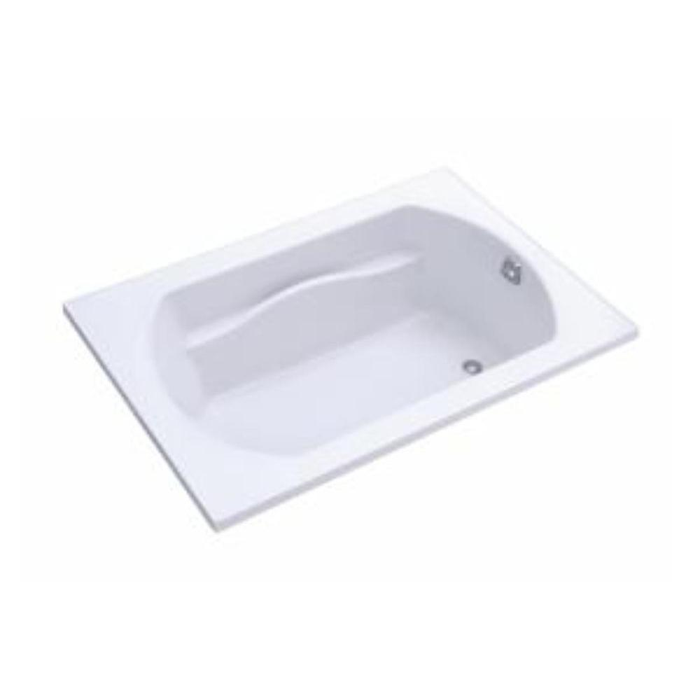 STERLING Lawson 5 ft. Rectangular Drop-in Reversible Drain Decked Bathtub in White
