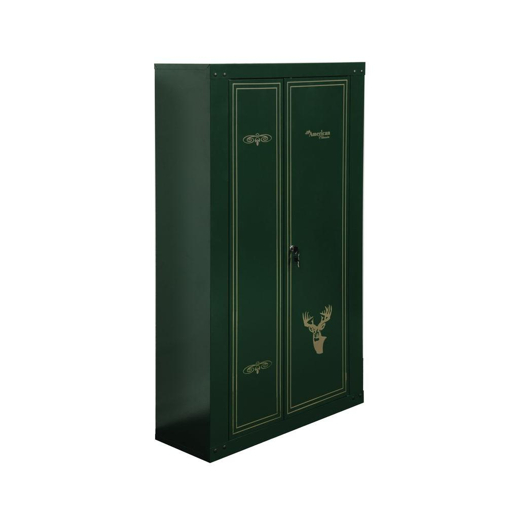 14 Gun Key Locking Metal Cabinet in Hunter Green