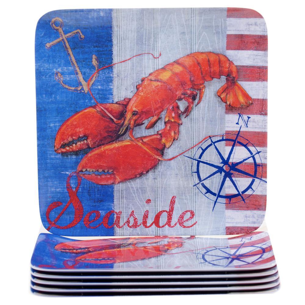 Certified International Maritime Lobster Dinner Plate (Set of 6) 15055SET/6
