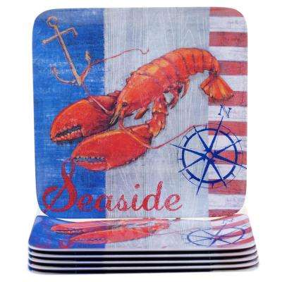 Maritime Lobster Dinner Plate (Set of 6)
