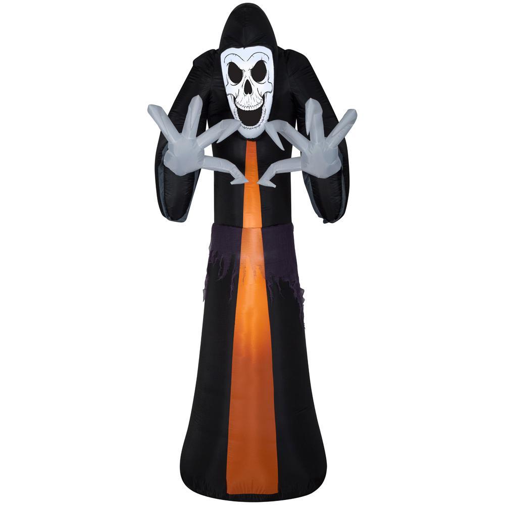 HomeDepot.com deals on Gemmy 12 ft. Pre-Lit Inflatable Reaper Airblown