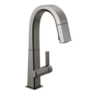 Pivotal Single-Handle Bar Faucet with MagnaTite Docking in Black Stainless