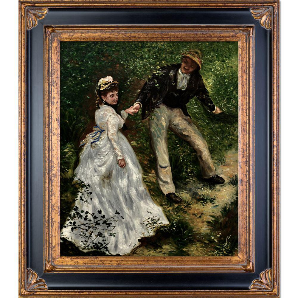 LA PASTICHE La Promenade with Corinthian Gold Frameby Pierre-Auguste Renoir Oil Painting, Multi-Colored was $922.0 now $424.86 (54.0% off)
