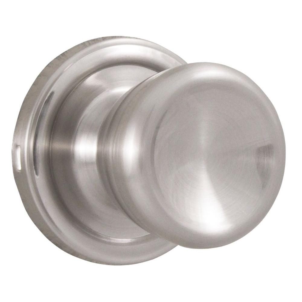 Essentials Satin Nickel Passage Sonic Knob