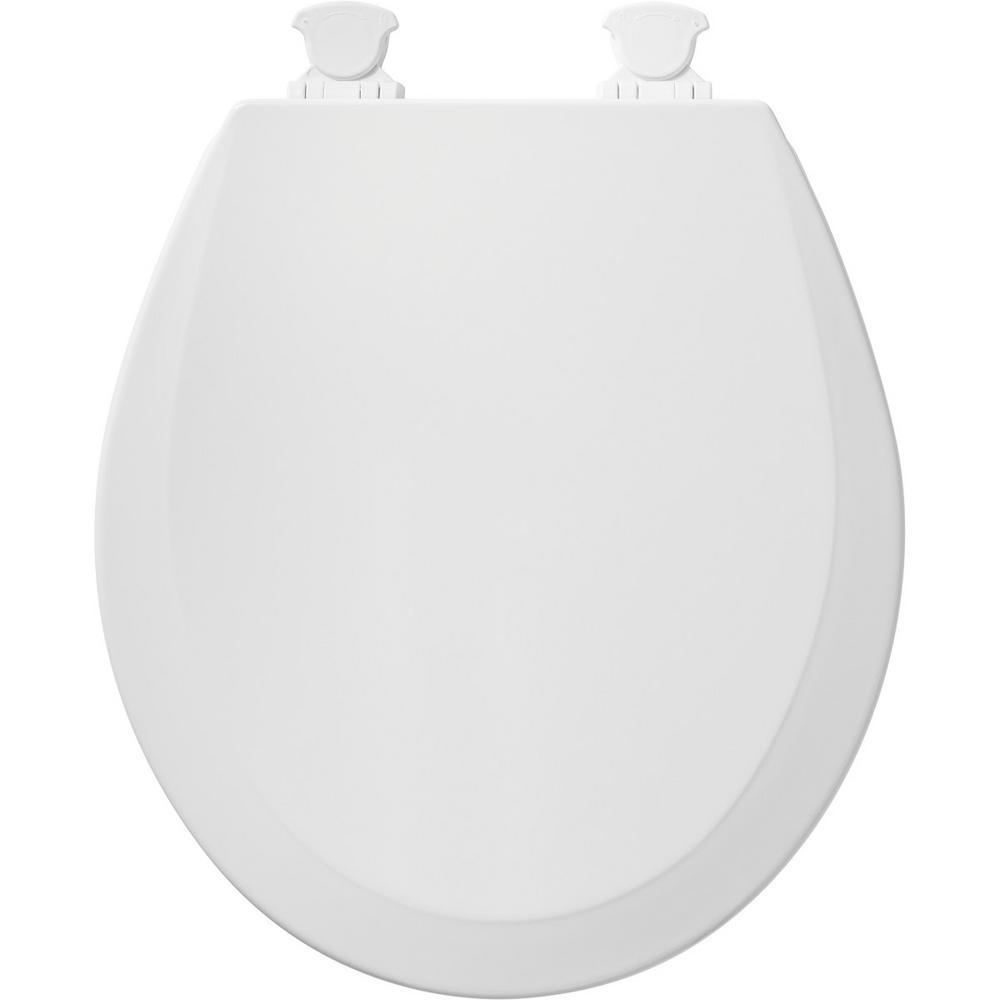Durable Enam Round Bemis 500Ec 063 Toilet Seat With Easy Clean  Change Hinges