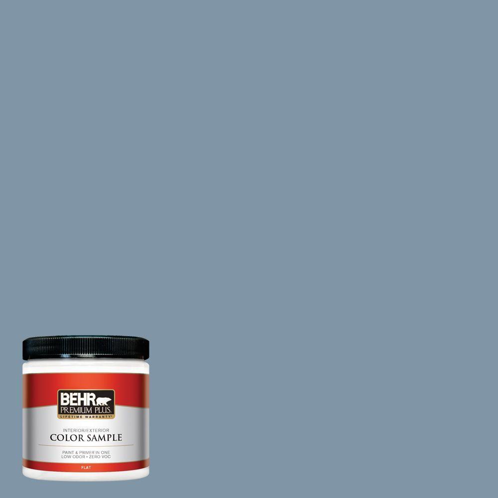 BEHR Premium Plus 8 oz. #560F-5 Bleached Denim Interior/Exterior Paint Sample