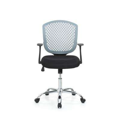 Grey Mid-Back, Adjustable Height, Swiveling Desk Chair with Padded Seat, Chrome Base and Breathable Back Rest