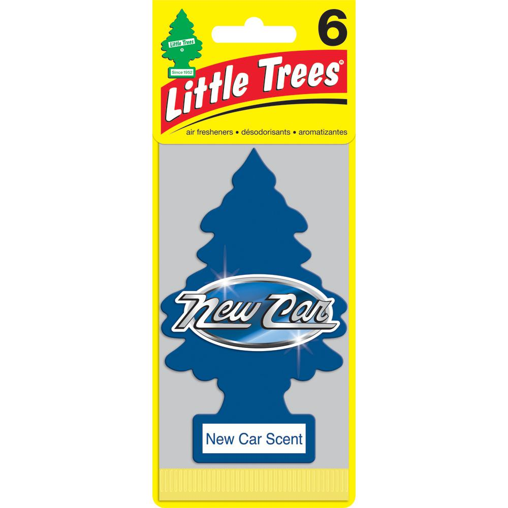 Little Trees Aair Freshener New Car Scent 6 Pack U6p 60189 8 The Home Depot
