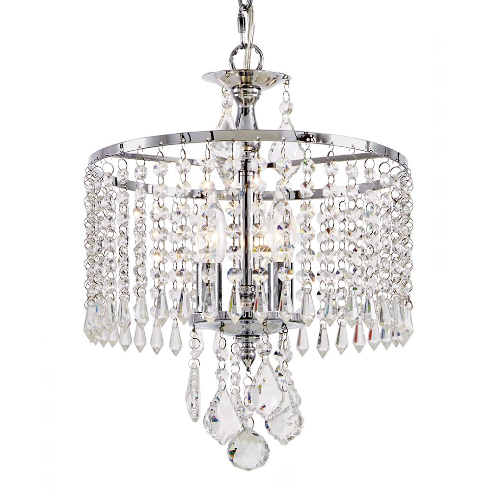 Fifth and main lighting 3 light polished chrome mini chandelier with fifth and main lighting 3 light polished chrome mini chandelier with k9 crystal dangles aloadofball Images