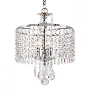 Fifth and Main Lighting 3-Light Polished Chrome Mini-Chandelier with K9 Crystal Dangles by Fifth and Main Lighting