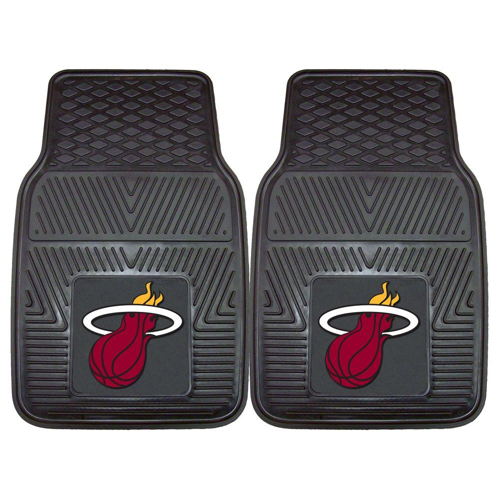 Miami Heat 18 in. x 27 in. 2-Piece Heavy Duty Vinyl