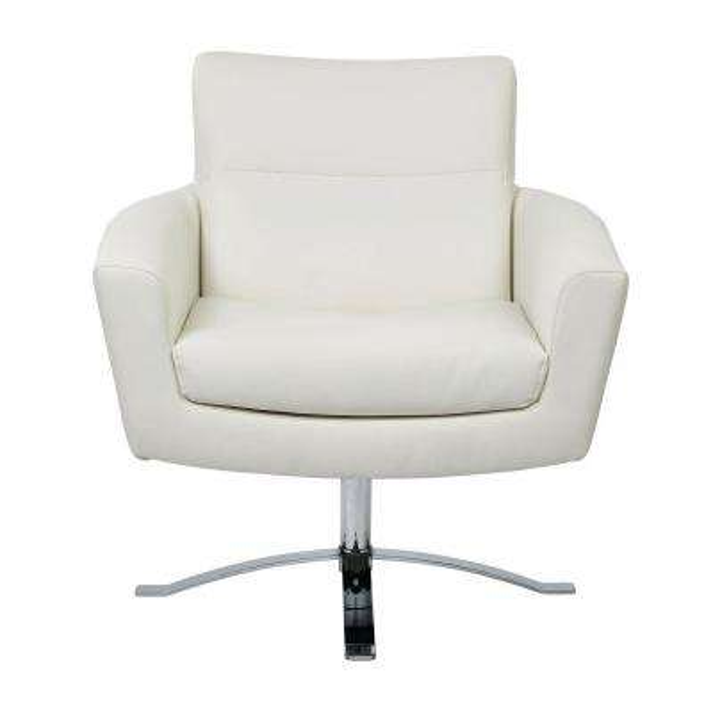 Nova White Faux Leather Arm Chair