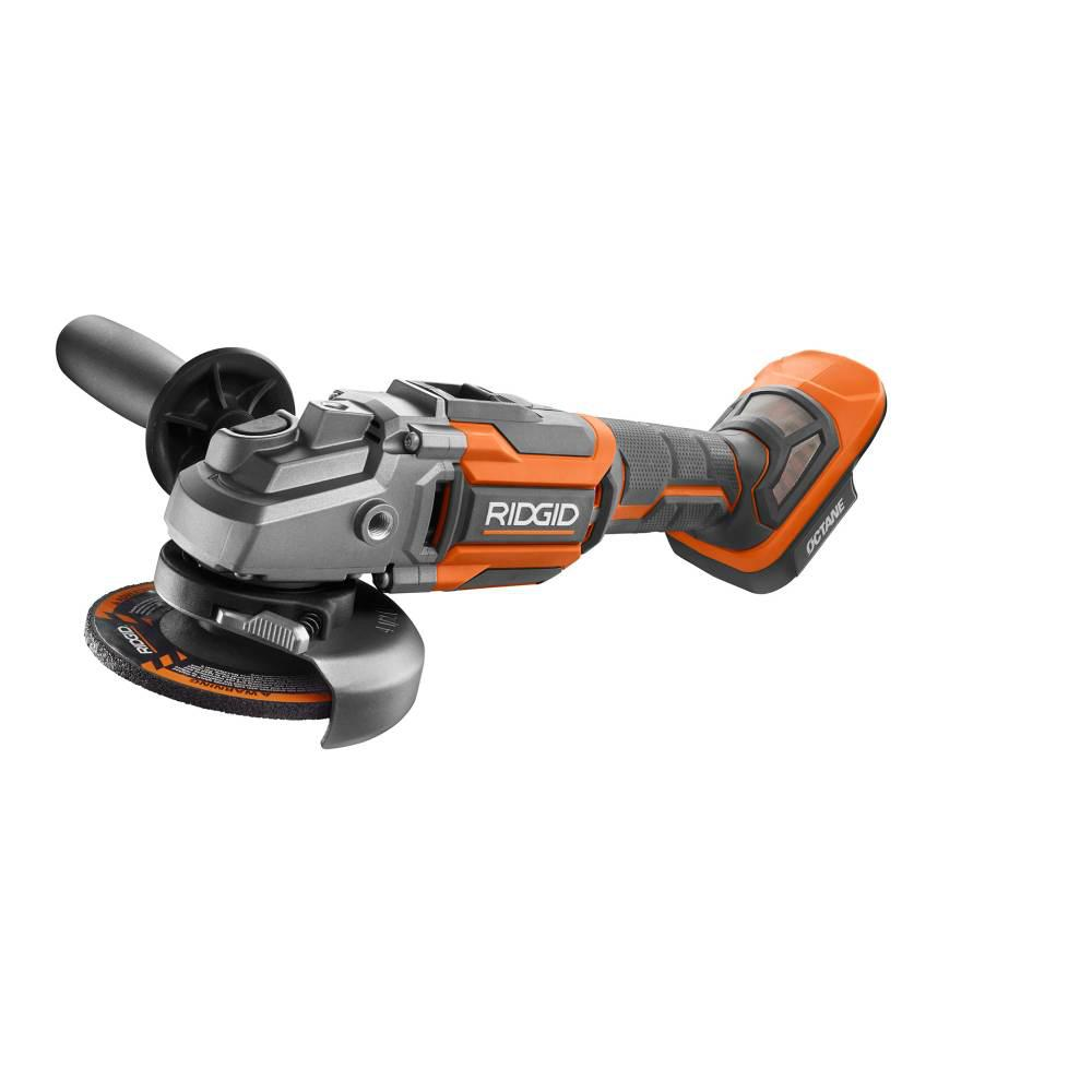 RIDGID 18-Volt OCTANE Cordless Brushless 4-1/2 in. Angle Grinder (Tool Only)
