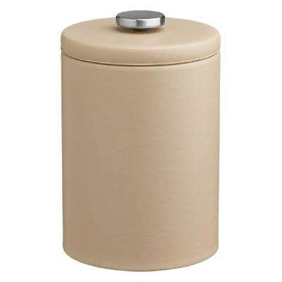 Contempo 2 Qt. Beige Tall Ice Bucket with Thick Vinyl Lid