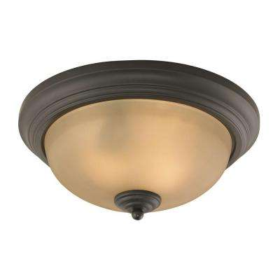 Huntington 3-Light Oil-Rubbed Bronze Ceiling Flushmount