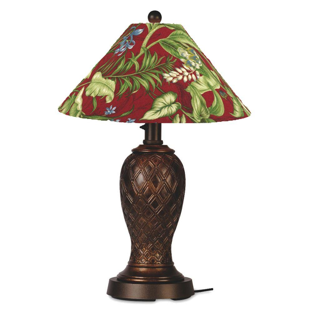 Patio Living Concepts Monterey 34 in. Outdoor Bronze Table Lamp with Lacquer Shade-DISCONTINUED
