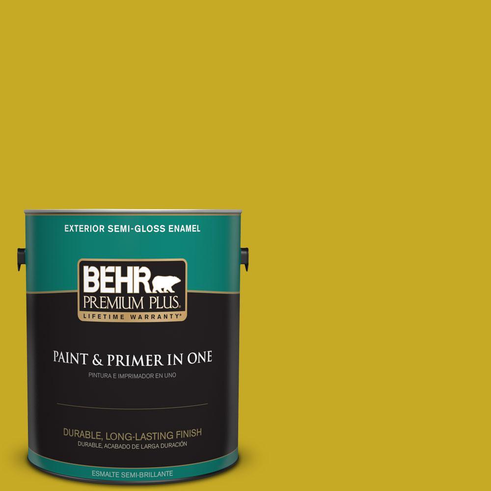 BEHR Premium Plus Home Decorators Collection 1-gal. #HDC-MD-03 Citronette Semi-Gloss Enamel Exterior Paint